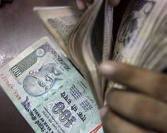 Rupee edges up by 3 paise