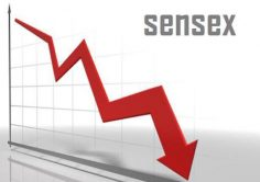 Sensex slips 50 points, Nifty below 8,400 in late morning trade