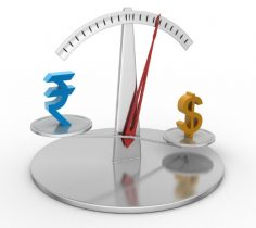 Rupee slumps 8 paise in early trade