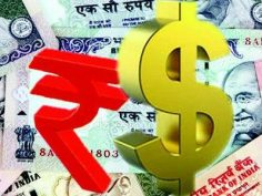 Rupee declines 10 paise against dollar