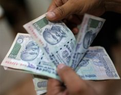 Rupee weakens by 5 paise
