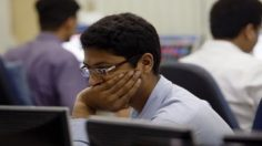 Sensex slips 340 pts on global woes; Q2 nos lift Infosys 7%